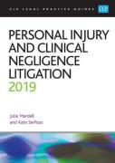 Cover of CLP Legal Practice Guides: Personal Injury and Clinical Negligence Litigation 2019