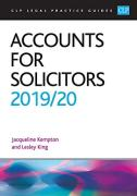 Cover of CLP Legal Practice Guides: Accounts for Solicitors 2019/20