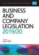 Cover of CLP Legal Practice Guides: Business and Company Legislation 2019/20