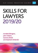 Cover of CLP Legal Practice Guides: Skills for Lawyers 2019/20