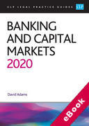 Cover of CLP Legal Practice Guides: Banking and Capital Markets 2020 (eBook)