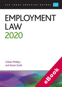 Cover of CLP Legal Practice Guides: Employment Law 2020 (eBook)