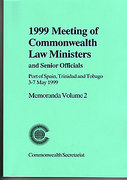 Cover of Meeting of Commonwealth Law Ministers and Senior Officials: V. 2. Port of Spain, Trinidad and Tobago, 3-7 May 1999