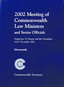 Cover of 2002 Meeting of Commonwealth Law Ministers and Senior Officials