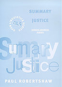 Cover of Summary Justice: Judges Address Juries