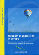Cover of Freedom of Expression in Europe: Case-Law Concerning Article 10 of the European Convention on Human Rights