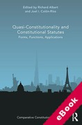 Cover of Quasi-Constitutionality and Constitutional Statutes: Forms, Functions, Applications (eBook)