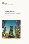 Cover of VAT and the City: Banking, Finance and Insurance