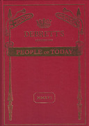 Cover of Debrett's People of Today 2016