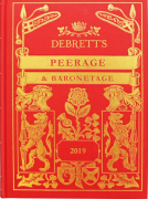 Cover of Debrett's Peerage and Baronetage 2019