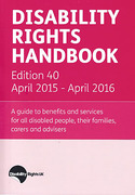 Cover of Disability Rights Handbook April 2015 - April 2016