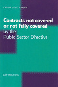 Cover of Contracts Not Covered, or Not Fully Covered, by the Public Sector Directive