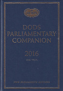Cover of Dods Parliamentary Companion 2016