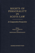 Cover of Rights of Personality in Scots Law: A Comparative Perspective