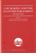 Cover of Law Making and the Scottish Parliament: The Early Years