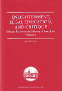 Cover of Enlightenment, Legal Education, and Critique: Selected Essays on the History of Scots Law, Volume 2