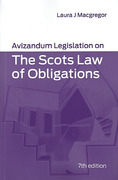Cover of Avizandum Legislation on the Scots Law of Obligations