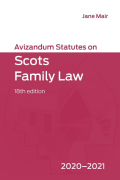 Cover of Avizandum Statutes on Scots Family Law 2020-21