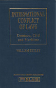 Cover of International Conflict of Laws: Common Civil and Maritime