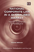 Cover of National Corporate Law in a Globalised Market: The UK Experience in Perspective
