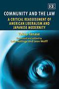 Cover of Community and the Law: A Critical Reassessment of American Liberalism and Japanese Modernity