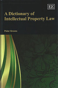 Cover of A Dictionary of Intellectual Property Law