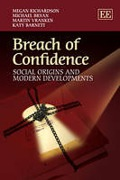 Cover of Breach Of Confidence: Social Origins and Modern Developments