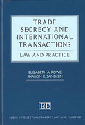 Cover of Trade Secrecy and International Transactions
