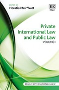 Cover of Private International Law and Public law