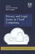 Cover of Privacy and Legal Issues in Cloud Computing