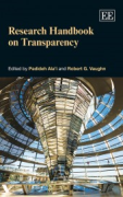 Cover of Research Handbook on Transparency