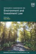 Cover of Research Handbook on Environment and Investment Law