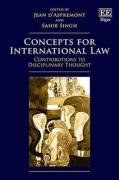 Cover of Concepts for International Law: Contributions to Disciplinary Thought
