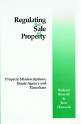 Cover of Regulating the Sale of Property
