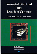 Cover of Wrongful Dismissal and Breach of Contract: Law, Practice & Precedents