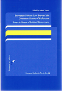 Cover of European Private Law Beyond the Common Frame of Reference