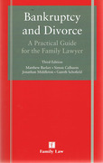 Cover of Bankruptcy and Divorce: A Practical Guide for the Family Lawyer