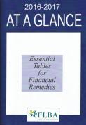 Cover of At A Glance 2016-17: Essential Tables for Financial Remedies