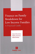 Cover of Finance on Family Breakdown for Low Income Families: A Practical Guide