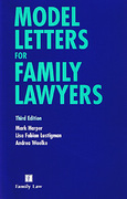 Cover of Model Letters for Family Lawyers 3rd ed