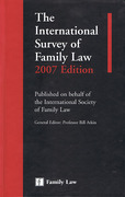 Cover of The International Survey of Family Law 2007