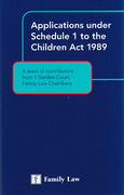 Cover of Applications under Schedule 1 of the Children Act 1989