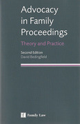Cover of Advocacy in Family Proceedings: Theory and Practice