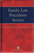 Cover of Family Law Precedents Service Looseleaf