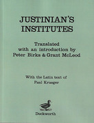 Cover of Justinian's Institutes