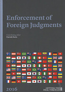 Cover of Getting the Deal Through: Enforcement of Foreign Judgments 2016