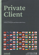 Cover of Getting the Deal Through: Private Client 2016