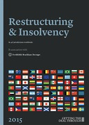 Cover of Getting the Deal Through: Restructuring & Insolvency 2018