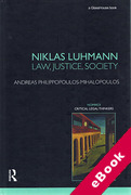 Cover of Niklas Luhmann: Law, Justice, Society (eBook)