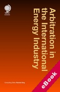 Cover of Arbitration in the International Energy Industry (eBook)